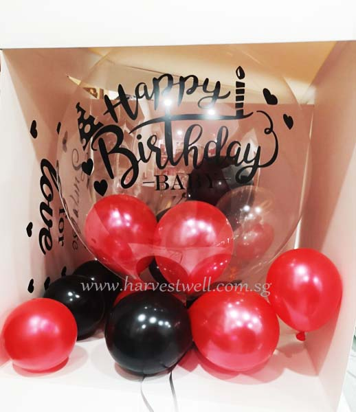 Customize Surprise Balloon Gift Box Baby Birthday Bubble Balloon