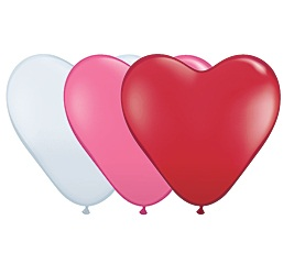 Heart Shape Assortment Helium Latex Balloon