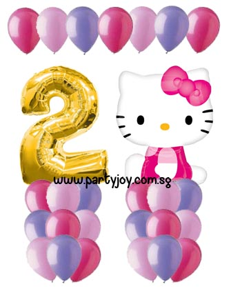 Hello Kitty Age Balloon Value Package