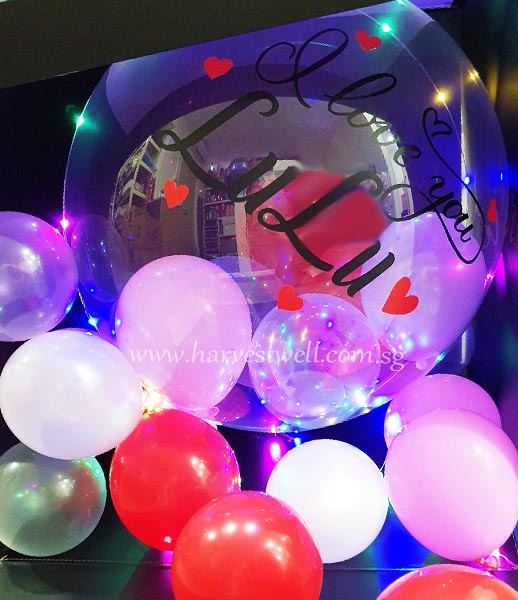 I Love You Customize Surprise Balloon Gift Box