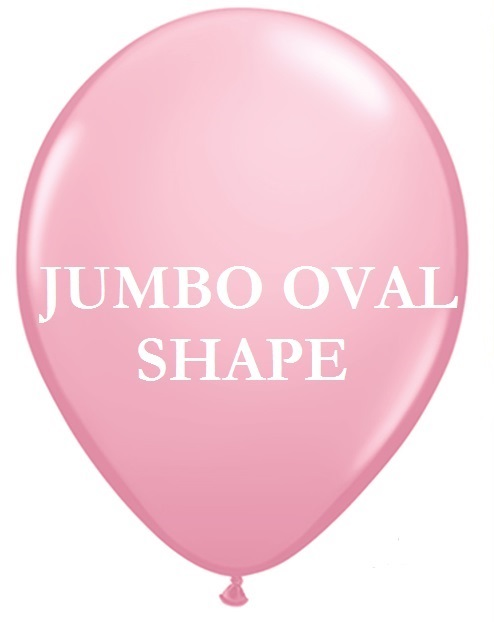 Pink Jumbo Oval Shape Helium Latex Balloon