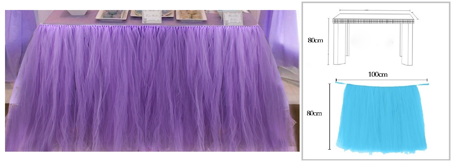 LILAC TUTU TABLE SKIRT