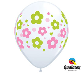 Daisies Helium Latex Balloon