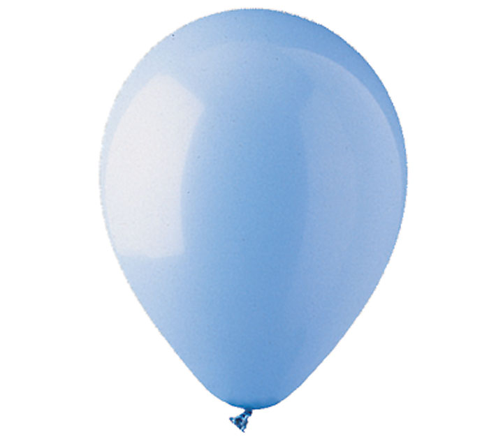 Light Blue Helium Latex Balloon