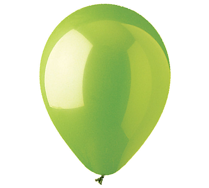 Lime Green Helium Latex Balloon