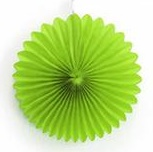 Hanging Paper Fan - Lime Green