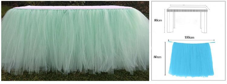 MINT GREEN TUTU TABLE SKIRT