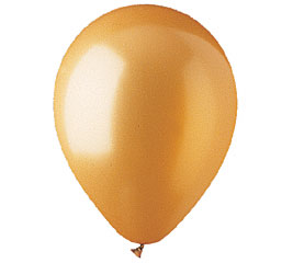 Metallic Gold Helium Latex Balloon