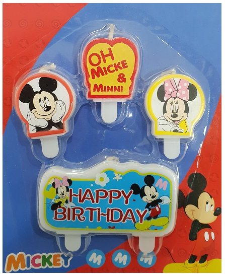 Mickey and Minnie Mouse Birthday Candle Set