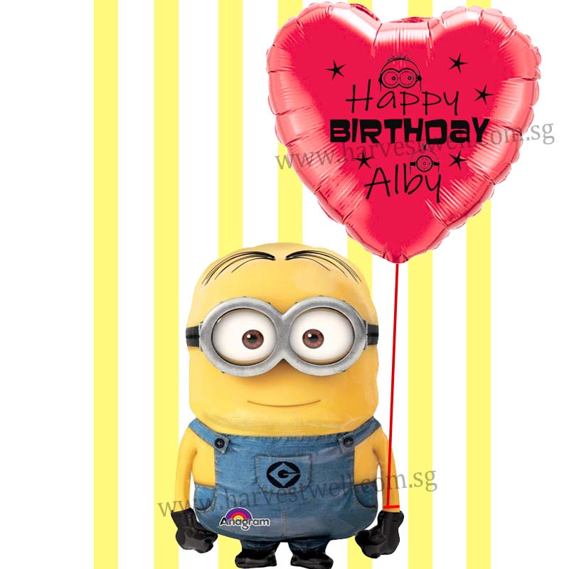 Personalize Minion's Love Balloon