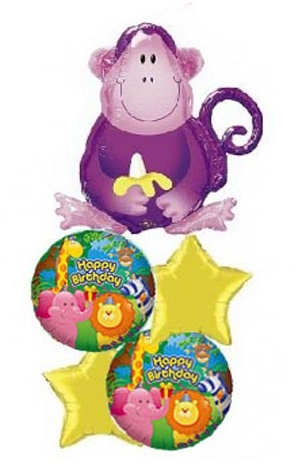 HBD Jungle Buddies(Monkey) Balloon Package