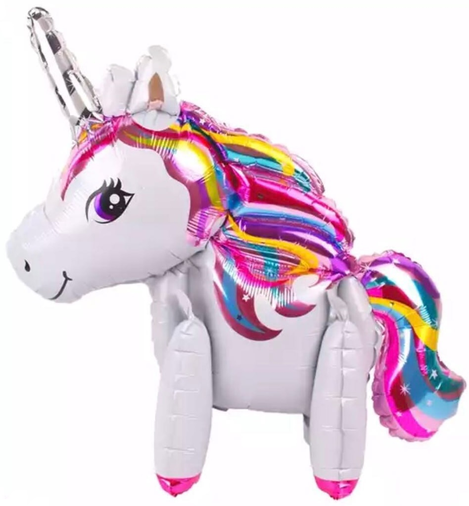 Mini Walker Neon Unicorn (Air-filled) Balloon