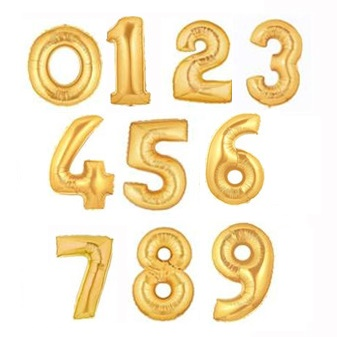 Megaloon Number Gold Foil Balloon