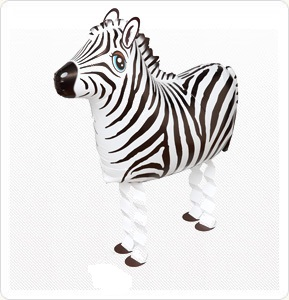 Zebra Walking Pet Balloon お散歩シマウマ