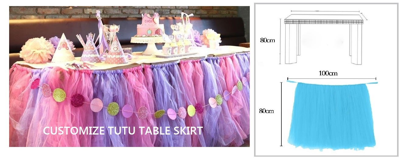 PINK & LILAC TUTU TABLE SKIRT