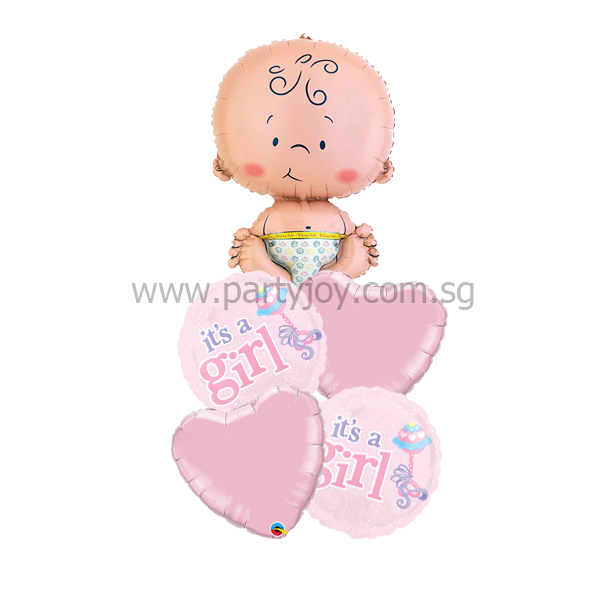 It's A Girl Baby Balloon Package
