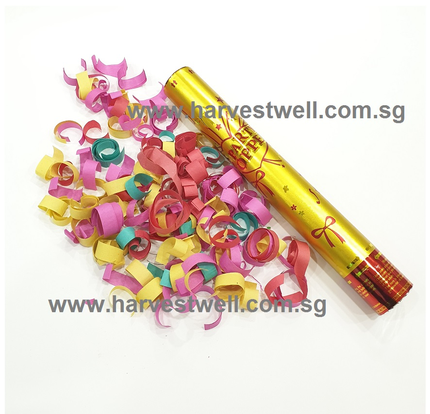 Medium Size Party Popper with Colouful Confetti