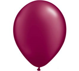 Pearl Burgundy Helium Latex Balloon