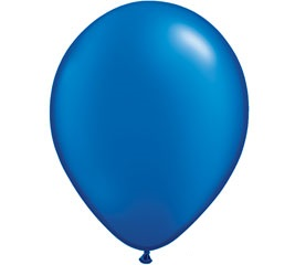 Pearl Dark Blue Helium Latex Balloon