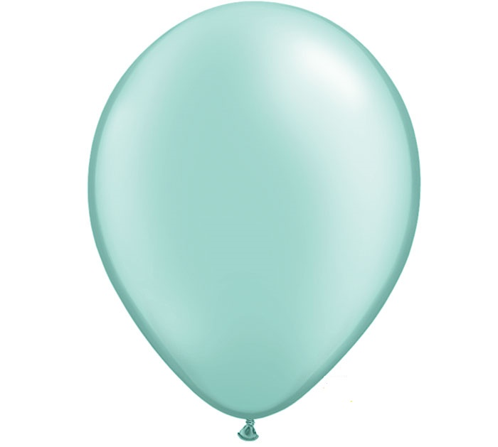 Pearl Mint Green Helium Latex Balloon
