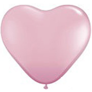 Pink Heart Shape Helium Latex Balloon