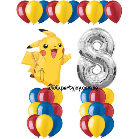 Pokemon Pikachu Balloon Value Package