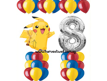 Pikachu Pokemon Balloon Value Package