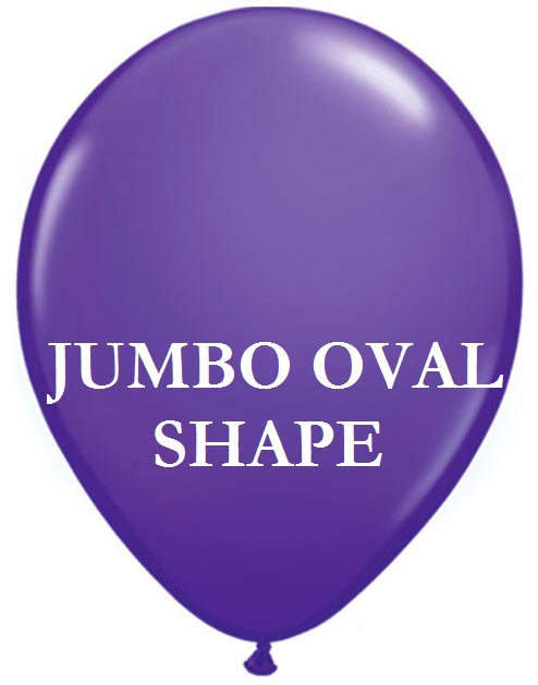 Purple Jumbo Oval Shape Helium Latex Balloon
