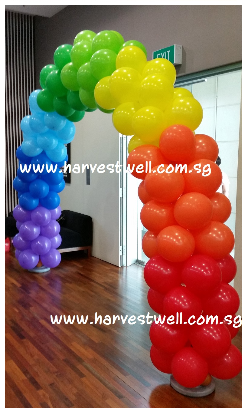 Rainbow Colour Balloon Arch