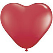 Red Heart Shape Helium Latex Balloon