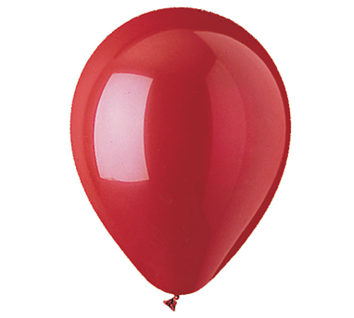 Red Helium Latex Balloon