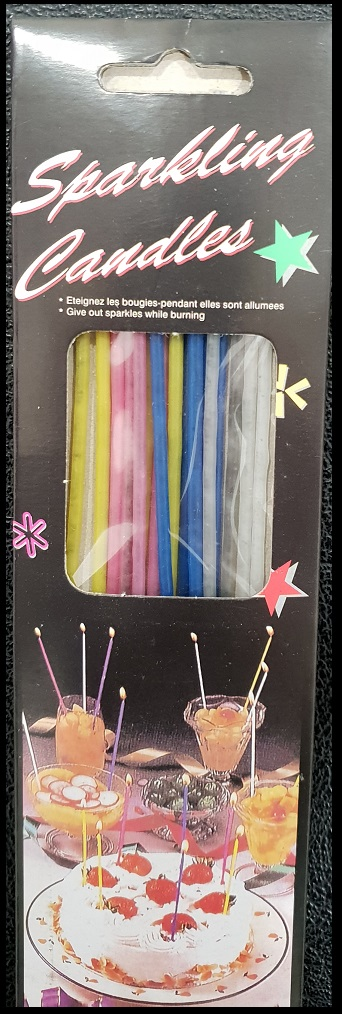 Sparkling Birthday Candles Candle Slim