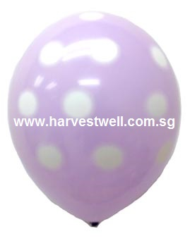 Sprayed Polka Dots (LAVENDAR) Helium Latex Balloon