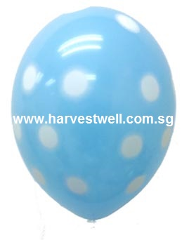 Sprayed Polka Dots (BLUE) Helium Latex Balloon