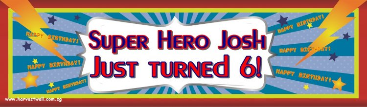 Super Hero Birthday Customized Banner