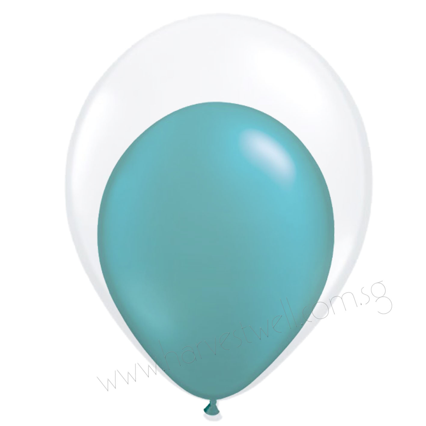Teal Balloon In Balloon