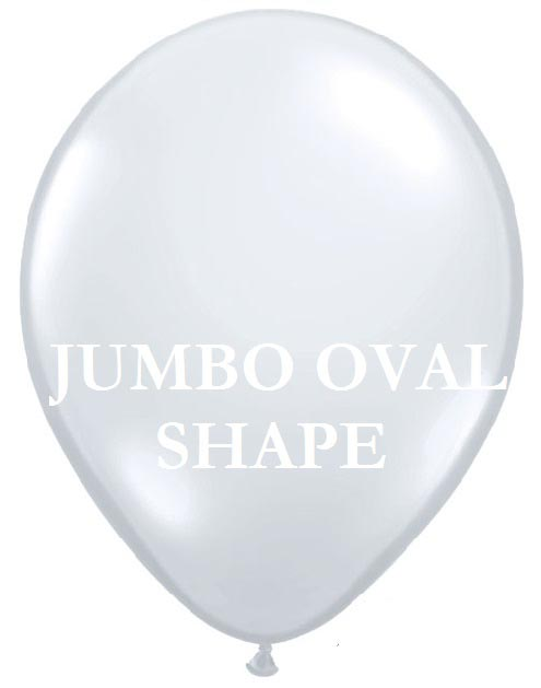 Transparent Jumbo Oval Shape Helium Latex Balloon