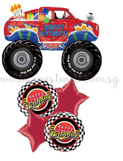 Happy Birthday Truck Balloon Package