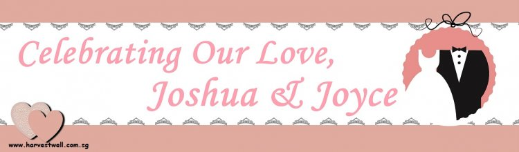 Wedding Bride And Groom Customized Banner
