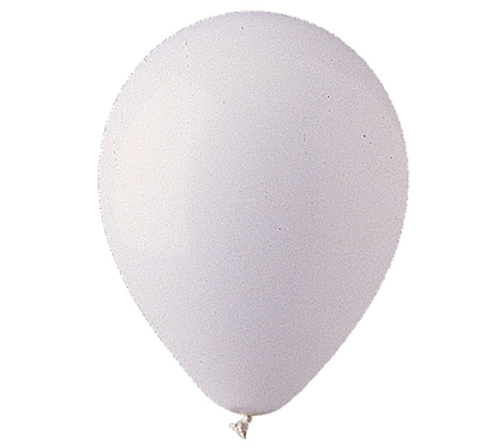 White Helium Latex Balloon