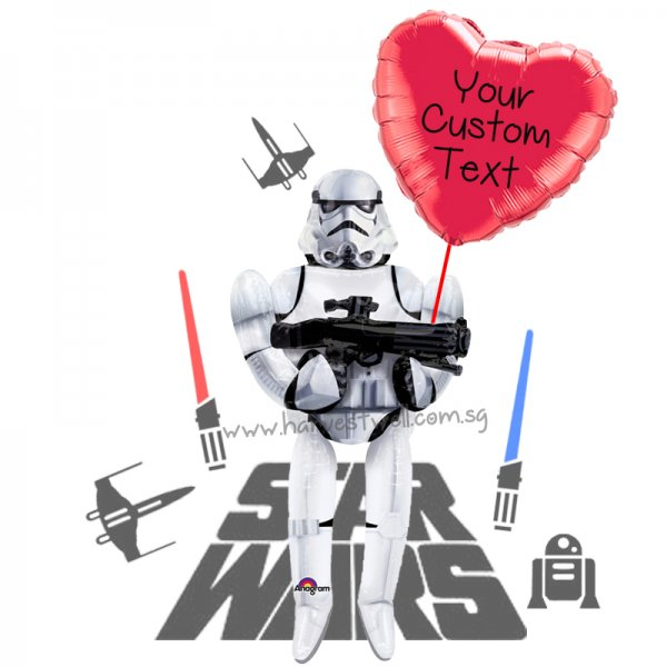 Personalize Storm Trooper's Love Balloon Gift