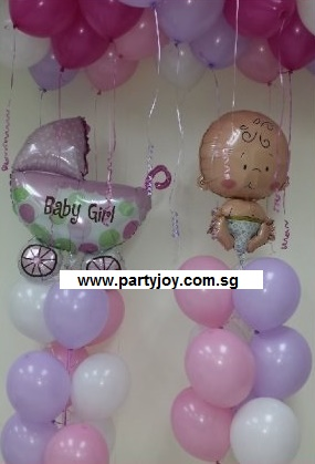 Baby Girl Balloon Value Package
