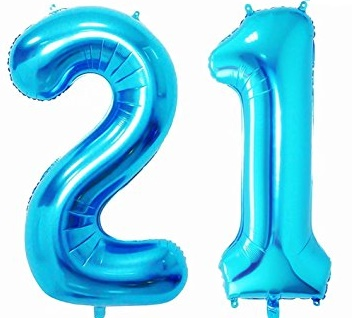 Megaloon Number Blue Foil Balloon