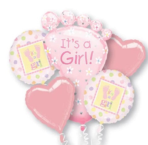 It's A Girl! Celebration Balloon Package