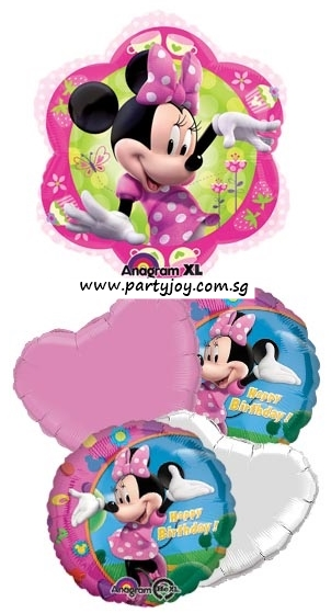 Minnie Mouse (Flower) Happy Birthday Balloon Package