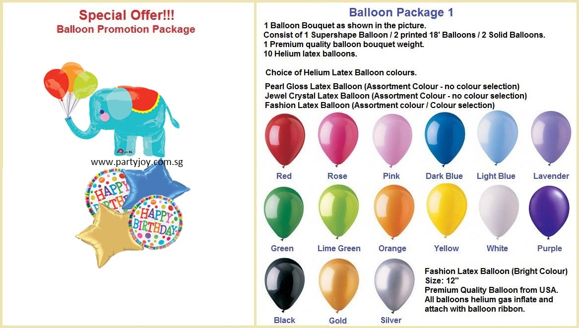Hbd Elephant Balloon Package