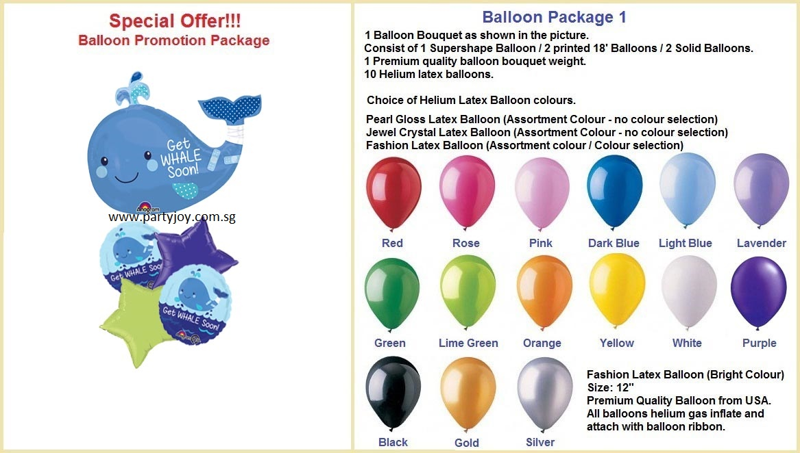Get Whale Balloon Package