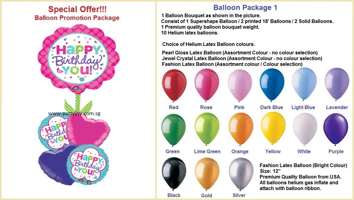 Hbd Pink Balloon Package
