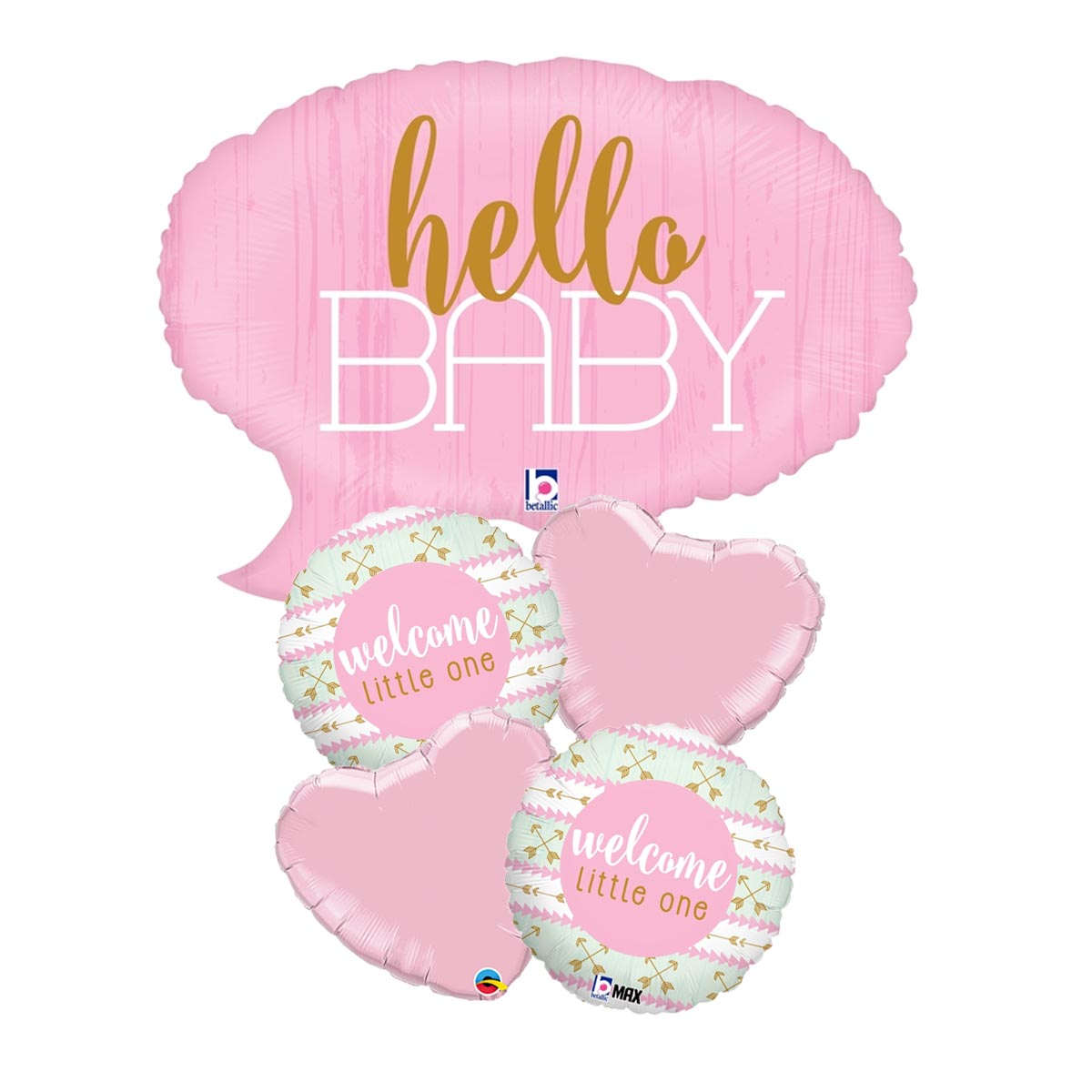 Hello Little One Girl Balloon Package