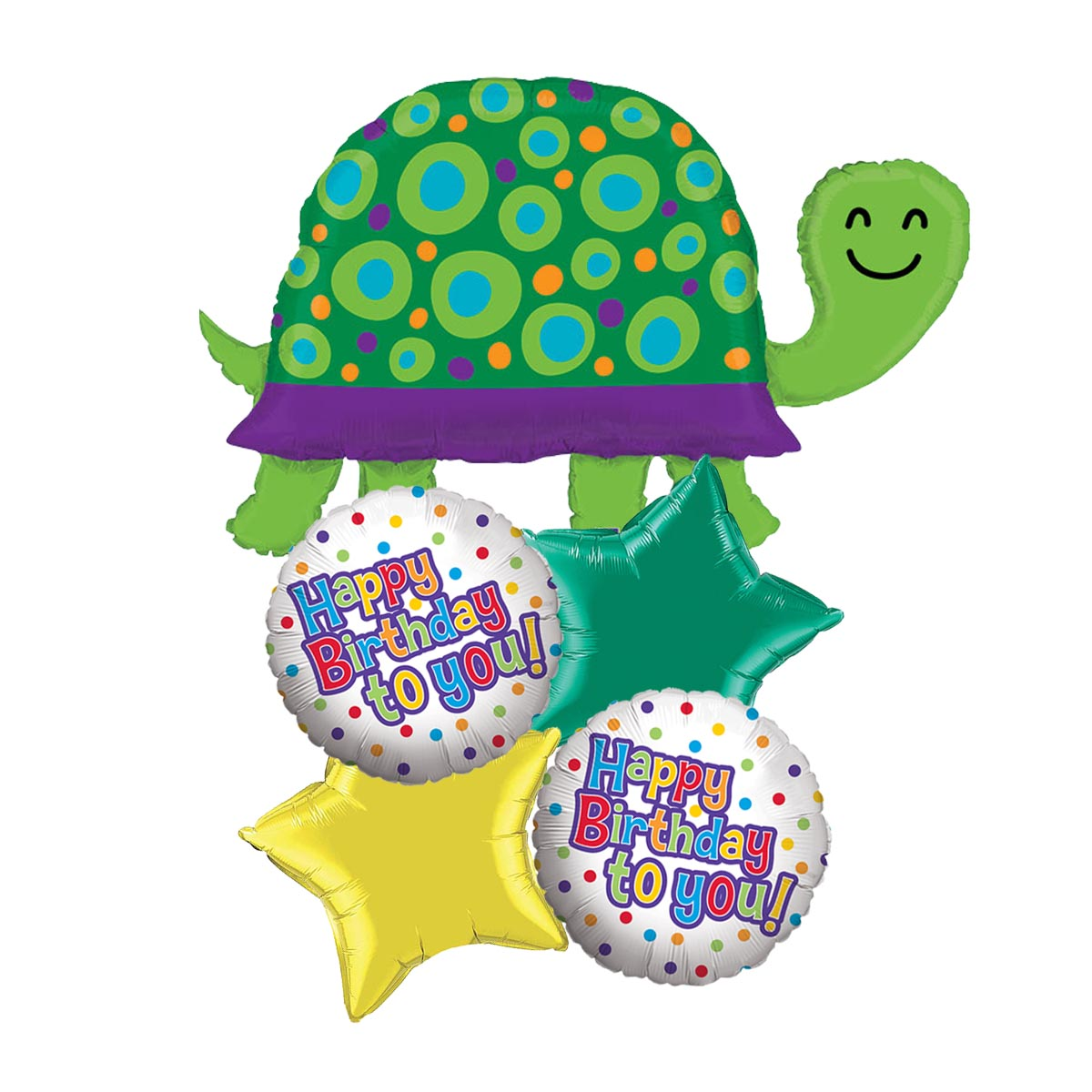 Turtle Dots HBD Balloon Package